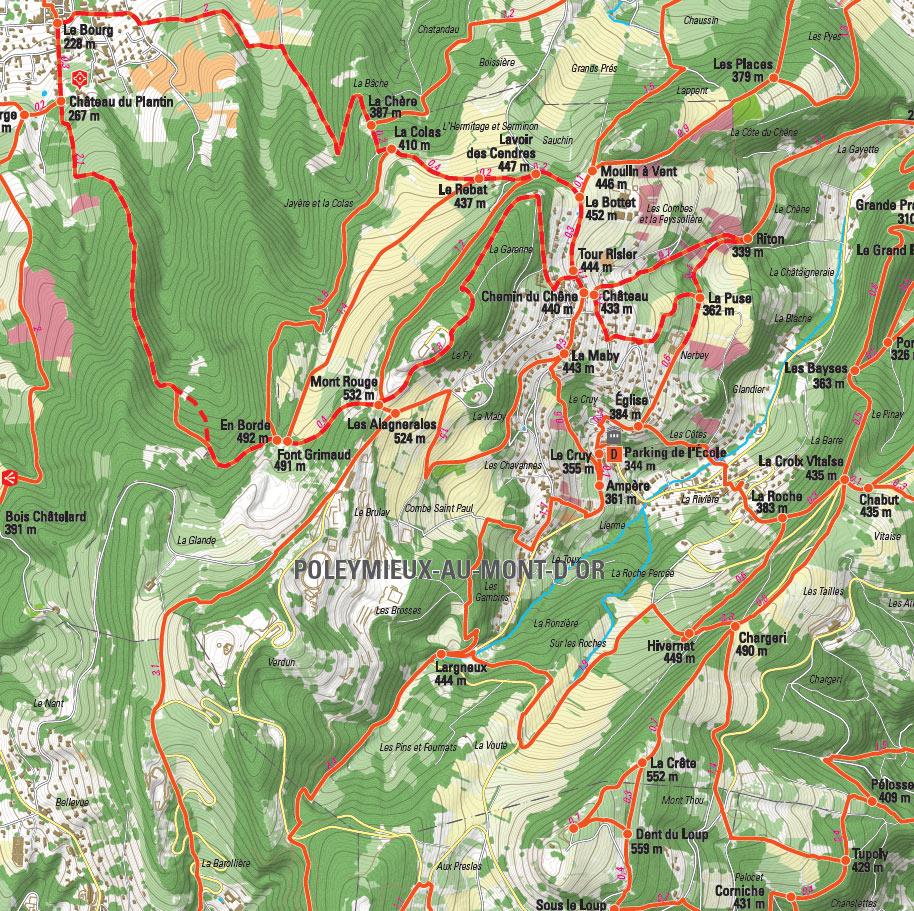 Poelymieux-au-Mont-d'Or - Plan